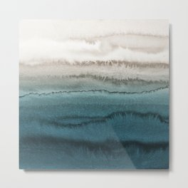 WITHIN THE TIDES - CRASHING WAVES TEAL Metal Print