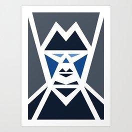 Five Triangle Faces - The Mafioso Art Print