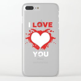 Love heart Clear iPhone Case