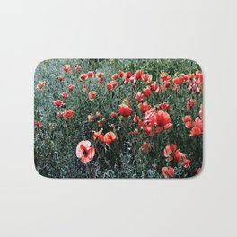 Poppies In A Field Bath Mat