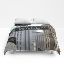 Wall Street Sign Comforters