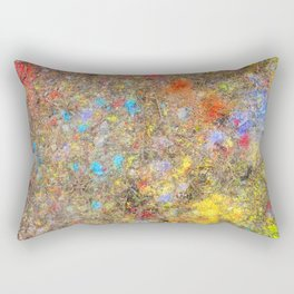 Aftermath of a Color Explosion Rectangular Pillow