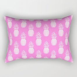 Pink Polka Dots Pineapple Rectangular Pillow