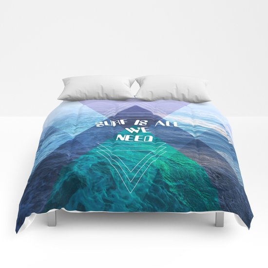 SURF IS ALL  WE NEED  Comforters