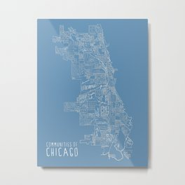 Communities of Chicago Metal Print