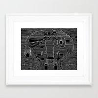 millenium falcon Framed Art Prints featuring Millenium division by BomDesignz