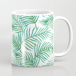Palm Leaves_Bg White Coffee Mug