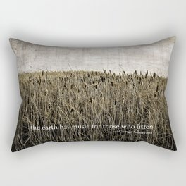 ecology {the earth has music Rectangular Pillow
