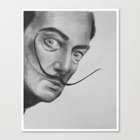 salvador dali Canvas Prints featuring Salvador Dali by Lucy Ford