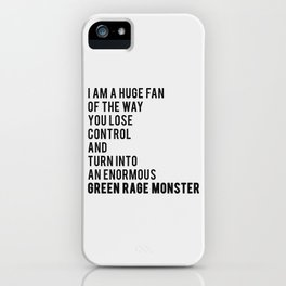 Green Rage Monster v2 iPhone Case