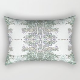 Tree Patterns Nuetral Colors Rectangular Pillow