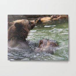 A Great Day to Play in the Water with a LOG Metal Print