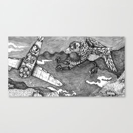 Marcus and the attack of the Garble. Canvas Print