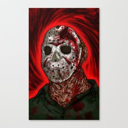 Fornication Terrorist Jason Voorhees Friday the 13th Canvas Print