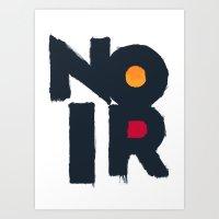 noir Art Prints featuring Noir by sonsofwolves
