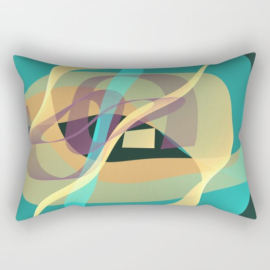 Floating in turquoise Rectangular Pillow