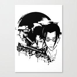 samurai grunge Canvas Print