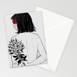 When her petals fall, they hit like bullets. Stationery Cards