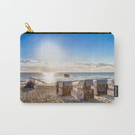 Beach chairs in the morning after sunrise Carry-All Pouch