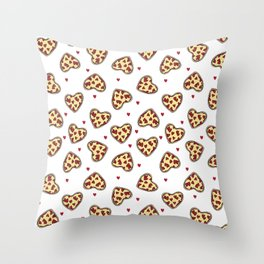 Pizza hearts cute love gifts foodie valentines day slices Throw Pillow