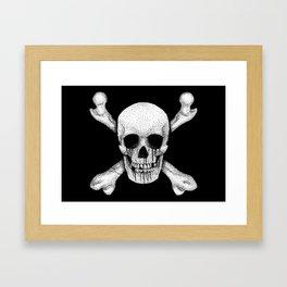 Jolly Roger Pirate Skull Flag Framed Art Print