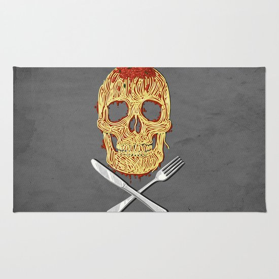 Spaghetti Skull Rug