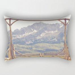 Western Mountain Ranch Rectangular Pillow
