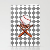 baseball Stationery Cards featuring Baseball by mailboxdisco