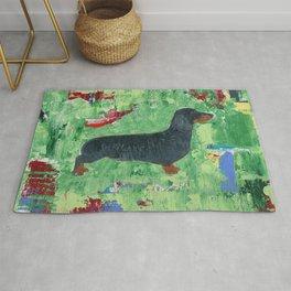 Dachshund Weiner Dog Painting Rug