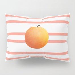 Ruston Peach Rugby Stripe Pillow Sham