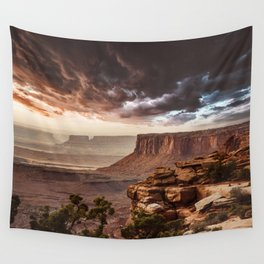 dramatic sky in moab Wall Tapestry