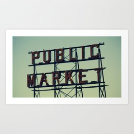 public market... Art Print