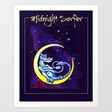 Midnight Surfer Poster Art Print