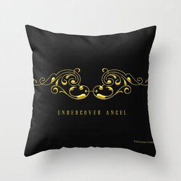 Undercover Angel: Wings Throw Pillow