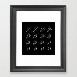 Origami Bird - Step by Step (White) Framed Art Print