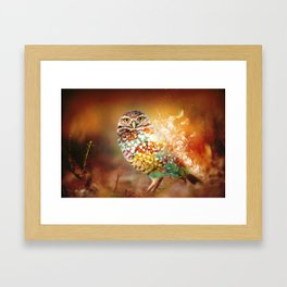 Owl on Fire by GEN Z Framed Art Print