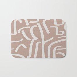Calligraffiti   Bisque + Bone Bath Mat