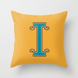 Alphabet Drop Caps Series- I Throw Pillow