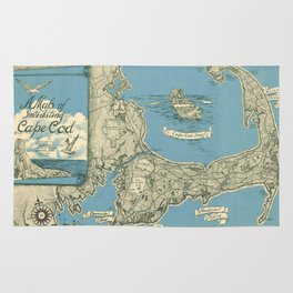 Vintage Map of Cape Cod (1945)  Rug