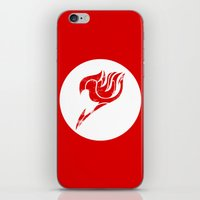 fairy tail iPhone & iPod Skins featuring Fairy Tail Segmented Logo circle by JoshBeck