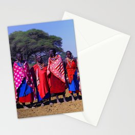 Warm Welcome to a Massai Village - Kenya, Africa Stationery Cards