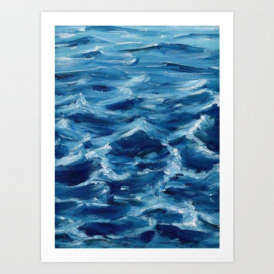 Acrylic wave Art Print
