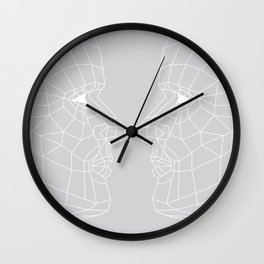 Selfie Gray Wall Clock