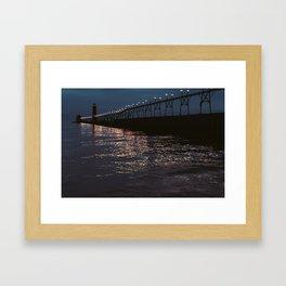 Pier Nights Framed Art Print