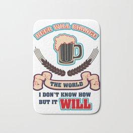 the world  - I love beer Bath Mat
