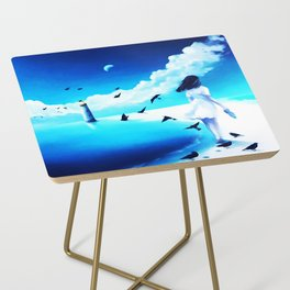 Lighthouse At The Sea Side Table