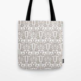 Swedish Folk Art - Warm Gray Tote Bag