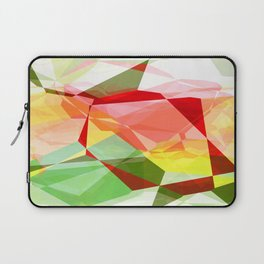 Red Rose with Light 1 Abstract Polygons 2 Laptop Sleeve