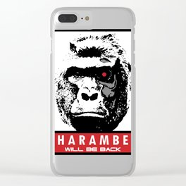 Harambe Will Be Back Clear iPhone Case