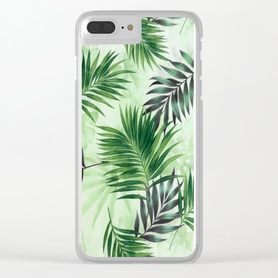 Palm leaves IV Clear iPhone Case